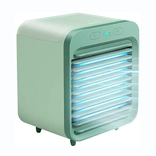 Aire Acondicionado Mini Enfriador Portátil Personal Air Cooler Mini humidificador 3 en 1 Ventilador Purificador,Humidificador 3...