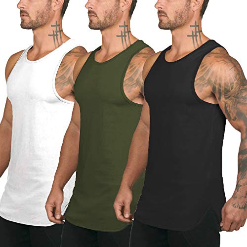 COOFANDY Men's 3 Pack Quick Dry Workout Tank Top Gym Muscle Tee...