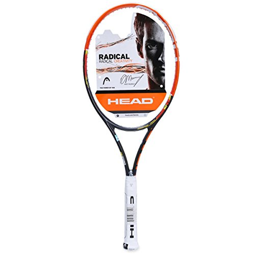 HEAD Erwachsene Tennisschläger Youtek Graphene Radical MP, Orange/Schwarz, L4