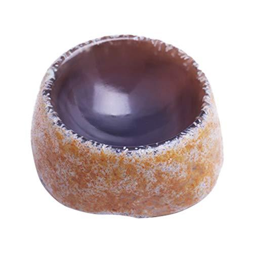 Cinzeiro de pedra natural BESPORTBLE, cinzeiro lavável para cigarro, enfeite de mesa, cinzeiro para bar interno e externo (formato aleatório)