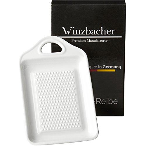 Winzbacher® DAS ORIGINAL - Keramik Ingwerreibe | ideal für Ingwer, Kurkuma und Knoblauch | Verbessertes Konzept 2020 | Spülmaschinenfest | Optimal für die Zubereitung von Ingwertee
