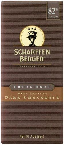 SCHARFEEN BERGER Artisan Chocolate Bars, Extra Dark, 3 Ounce (Pack of 6)