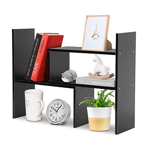 Estante de almacenamiento de escritorio Estante de almacenamiento de mesa de bricolaje,...
