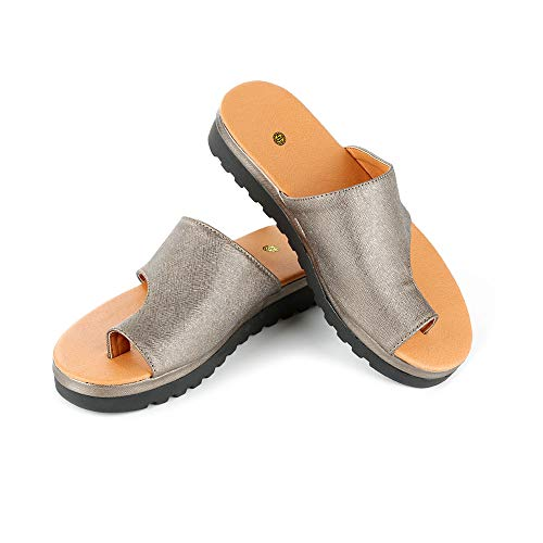 WMFL Férulas de juanete,Zapatos de Mujer cómodos con Sandalias de Plataforma con función de Corrector de juanetes,Plataforma de Apoyo Big Toe Hallux Valgus Sandalia Zapatos