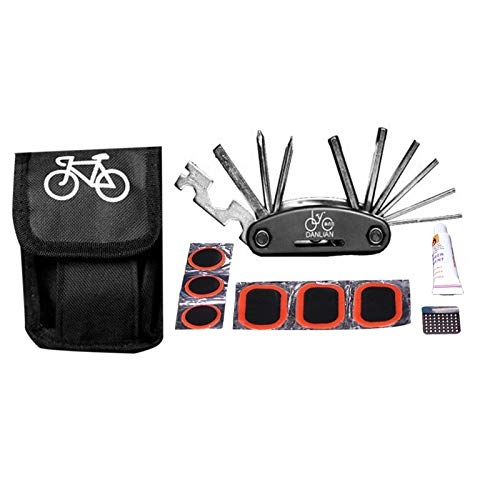 Mini Multifunction 16 in 1 Bicycle Repair Tool Kit Mountain Bike Hand Tools Cycling Folding Screwdriver Hexagon Wrench Furobayuusaku