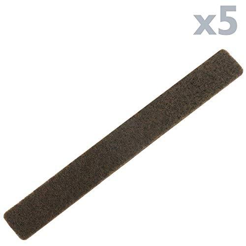 PrimeMatik - Fieltro Adhesivo para Muebles Rectangular 12x95 mm Marrón 5 Unidades