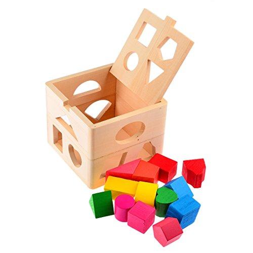 BANGBANGSHOP Kids Baby Educatief Speelgoed Houten Bouwblok Peuter Speelgoed voor Jongens Meisjes Leren Speelgoed Tool Coördineren Kinderen Oog En Hand Bewegingen Slimme Kids Noodzaken