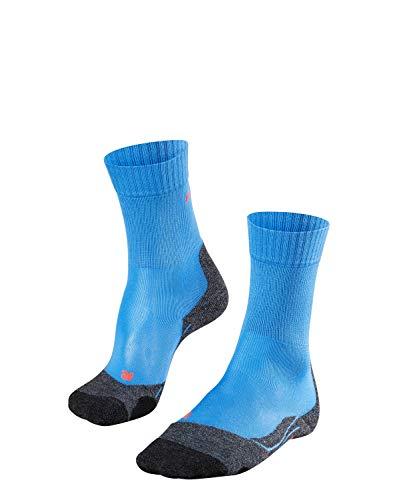 FALKE Damen Wandersocken TK2 Cool - Funktionsfaser, Wadenlange Wandersocke ohne Merinowolle für den leichten Wanderschuh, Blau (Blue Note 6545), 39-40, 1er Pack