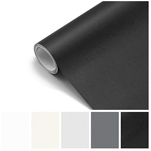 Papel Adhesivo para Muebles Pared Cocina Papel Pintado Autoadhesivo de PVC para Vinilos Decorativos Mate Negro 61 x 500 cm