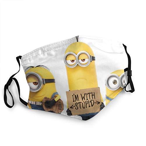 Sonickingmall Unisex Minions Bananen-Gesichtsmaske mit Mundschutz, waschbar, Halstuch für Motorradfahren