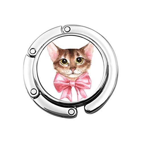 Arco de Dibujos Animados Gato Animal Bolsa de suspensión de Mesa Monedero Gancho de suspensión diseños únicos Bolso de Almacenamiento de sección Plegable