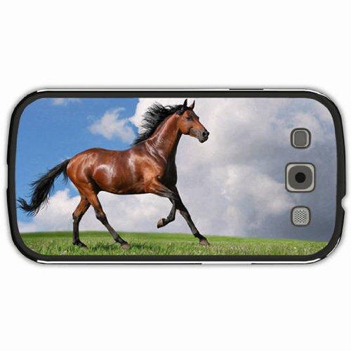 Samsung Galaxy S3 Case Black Back Cover Customized Design Horse