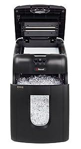 Rexel Auto+ 130M - Destructora, micro corte, papelera de 26 l, color negro