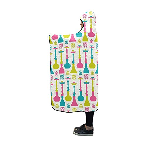 Plsdx Mit Kapuze Decke Shisha Decke 60 x 50 Zoll Comfotable Hooded Throw Wrap