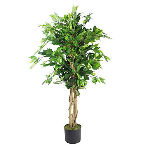 Leaf Künstlicher Kunstbaum, 120 cm, dunkler buschiger, Dunkel Bushy Ficus