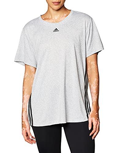 adidas 3 Stripe tee Camiseta, Mujer, Blanco/Negro, S