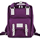 Himawari School Waterproof Backpack 14.9' College Vintage Travel Bag for Women,14 inch Laptop for Student (Noble Black)