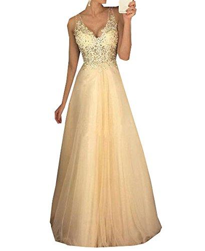 Special Bridal Tüll Party Kleider Applique Prom Kleider Lange Abendkleid Backless Prom Kleid