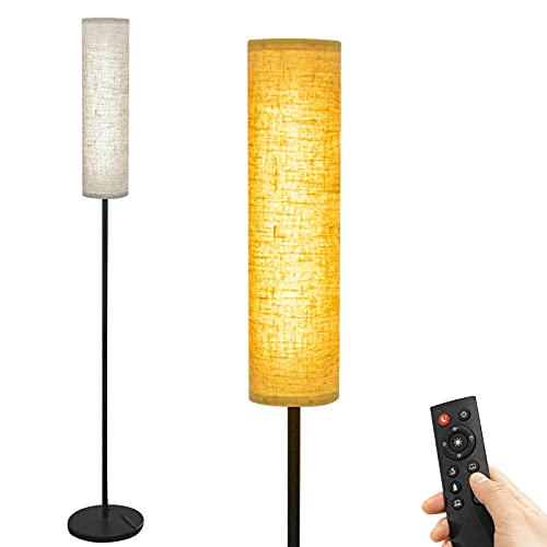 Wellwerks Floor Lamps for living room, 12W LED Floor Lamp with Remote Control and 4 Color Temperatures, Timer Reading Lamp, Floor Lamps for Bedrooms Office