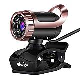 Informática Foto Full HD Web CAM USB Plug and Play cámara de Red Web con micrófono y videollamadas Facetime de Grabación en Skype,2