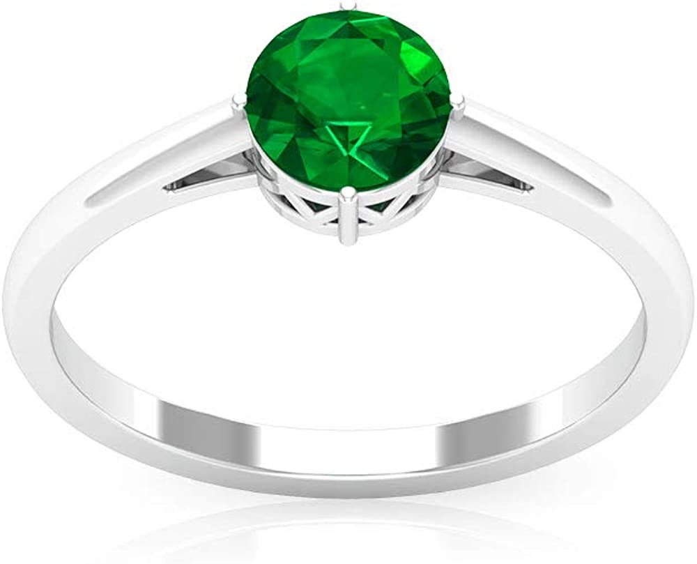 0.8 Ct SGL Certified Emerald Ring Diffused Gold Wedding New Free Shipping Stateme Purchase