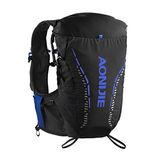 Aonijie Sac à dos de randonnée léger, 8l, professionnel, sac à dos d'hydratation de plein air, Noir S/M