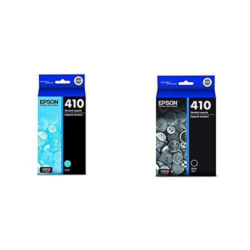 Epson T410220 Claria Premium Cyan Ink & 410 Ink Cartridge, Black
