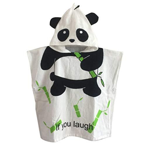 Gagacity Enfant Capuche Serviette Coton Poncho à Capuche de Bain/Plage Panda