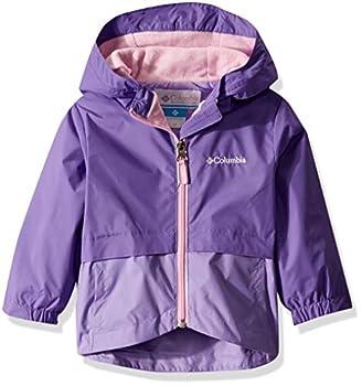 Columbia Girls  Big Rain-Zilla Jacket Grape Gum/Paisley Purple Large