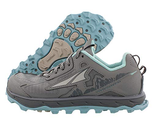 ALTRA Women's AL0A4QTX Lone Peak 4.5 Trail Running Shoe, NTRL Grey/Lt Turquoise - 9.5 M US