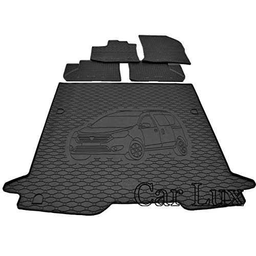 Car Lux AR95648 - Kit Alfombras Alfombrillas de goma a medida y...