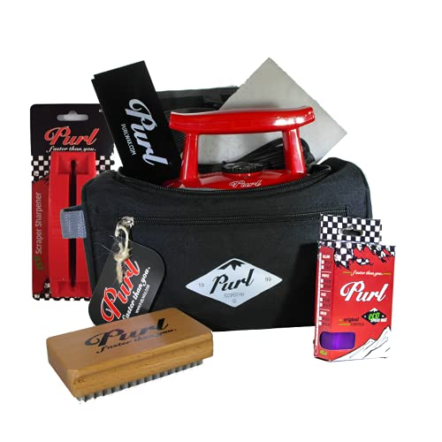PURL Ski & Snowboard Ultimate Speed Wax Tuning Kit with Waxing Iron
