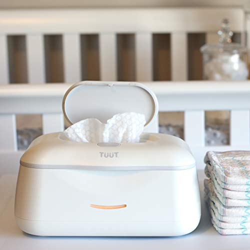 Baby Wipe Warmer & Wipes Dispenser - Sleek Diaper Wipes Holder for Boys and Girls - Tuut