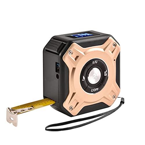 Angoily 2 en 1 Cinta Métrica Digital Regla Multi Funcional Recargable Telémetro de Golf Medidor de Distancia USB LCD Digital Pantalla Métrica Cinta para Golf Aire Libre Caza de Oro