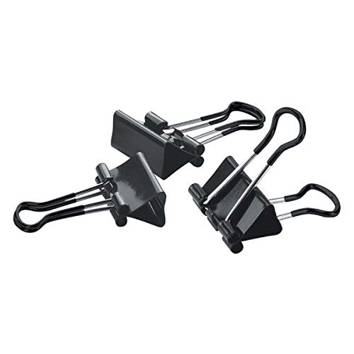 Office Depot Soft-Grip Medium Binder Clips, 1 1/4in, 5/8in. Capacity, Assorted Colors (No Color Choice), 12 pk, OD12SG