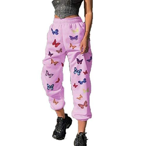 Otoño E Invierno, Mujeres Europeas Y Americanas, Pantalones De Mariposa, Pantalones Sueltos De Moda De Color Sólido Simple, Salida Deportiva, Pantalones De Viaje De Vacaciones En Casa