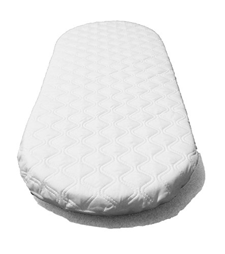 Suzy Microfibre Hypoallergenic Moses Basket Mattress 66x28 x 4cm Thick Oval Shaped Will Fit Mothercare Moses Baskets British Made