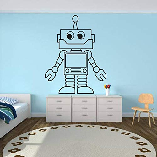 Robot pegatinas de pared niños habitación de niños lindos tatuajes de pared decoración de la casa ur decoración de la pared juventud ingeniería mecánica
