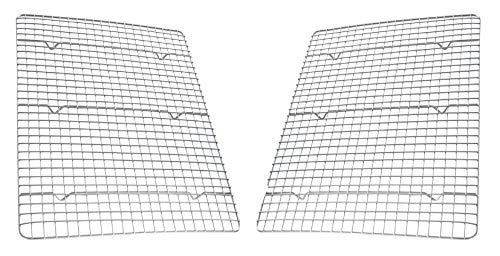 USA Pan Oven Safe Nonstick Cooling Racks For Baking, Half Sheet, Set of 2, Stainless