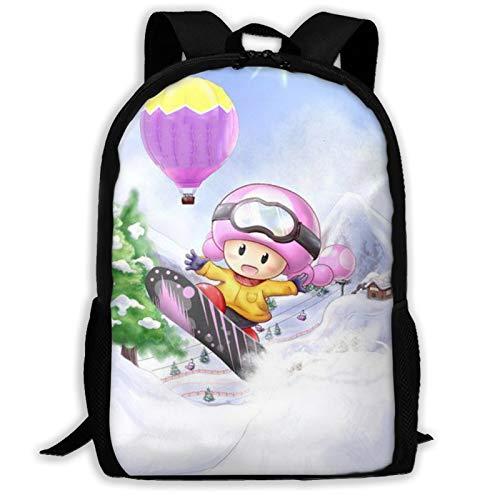 Super Mario - Mochila de viaje ligera para la escuela al aire libre, bolsa de colegio, resistente al agua, mochila de ordenador para niños y