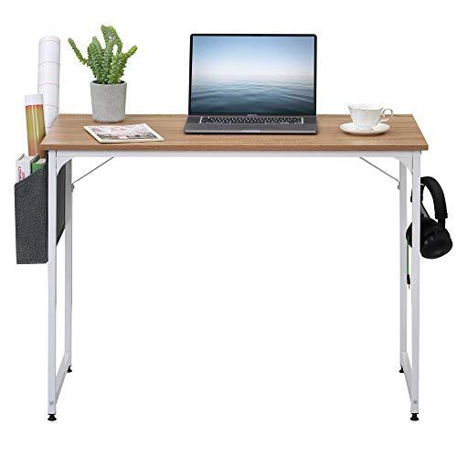 Mesa de escritorio Estudiante Mesa de estudio Escritorio Escritorio PC Mesa de ordenador portátil para espacios pequeños Home Office Workstation (color natural)