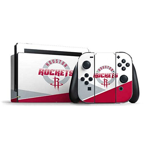 Skinit Decal Gaming Skin Compatible with Nintendo Switch Bundle - Officially Licensed NBA Houston Rockets Split Design
