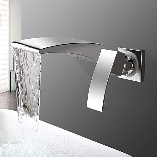 Das Wasserhahn verdeckte Becken mit Heiß- und Kaltwassermischventil Doppelloch 2-teiliges Set Galvanisieren Einhand Wasserfall Mund Schönheit und praktisch