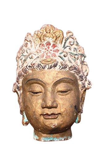 Guayin godess tête en métal massif très lourd