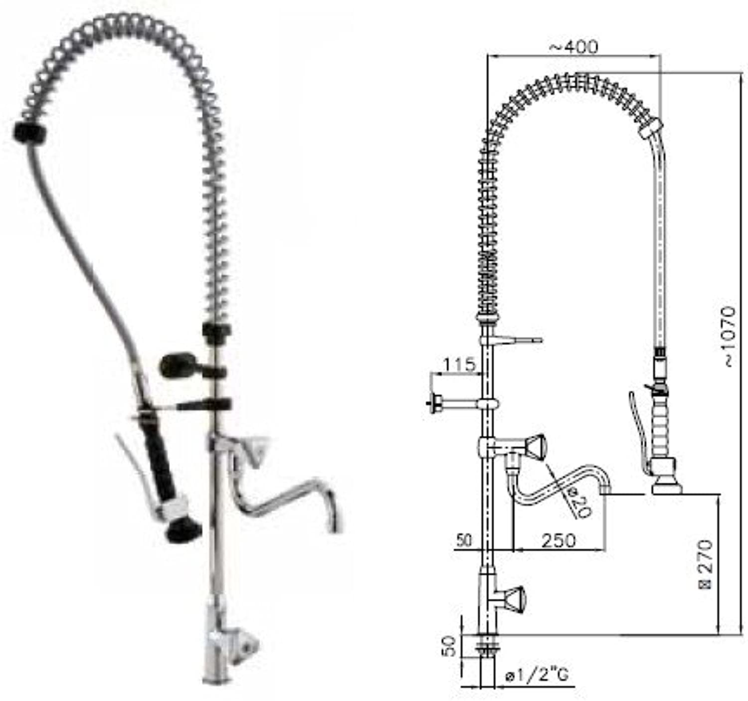 Group shower faucet doccione kitchen restaurant hotel RS7914