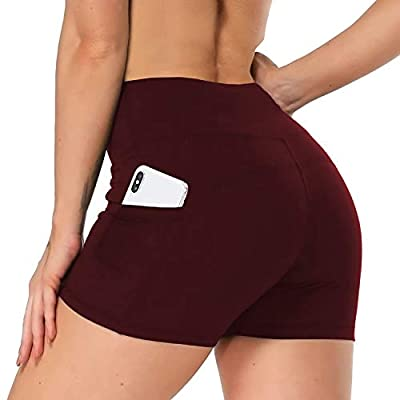 Amazon - Save 50%: NEW YOUNG Workout Shorts for Women with Pockets-High Waisted Bik…
