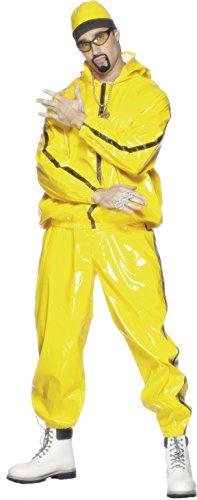 Smiffys, Herren Rapper Anzug Kostüm, Kapuzenjacke, Hose und Mütze, Größe: L, 21843