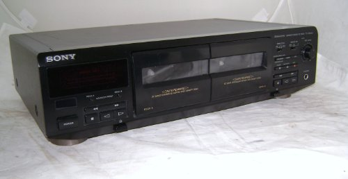 commercial Sony TC-WE405 stereo cassette deck with two cassettes sony cassette decks