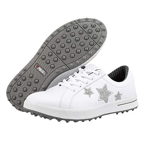 shoes Zapatos de Golf Impermeables para Mujer, Zapatos de Entrenamiento de Golf cómodos y Transpirables, Zapatillas Casuales Antideslizantes Resistentes al Desgaste, Zapatos Casuales