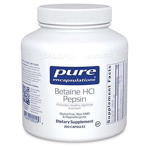 Pure Encapsulations Betaine HCl Pep…